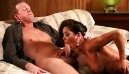 Large tittied sexy whore is getting her hairy vagina teases by horny guy