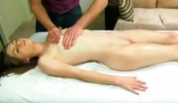 Watch this naked whore being naked and getting massaged in a filthy way