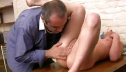 Magnificent cute bitch is getting her mouth poured with the schlongs