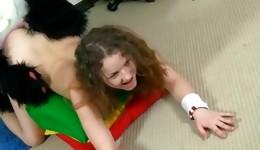 Hankering libertine golden girl giving panda unbelievable hand job