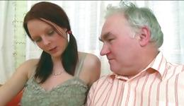 Watch hotty steamy intercourse where spicy wench allows old  to give her cunnilingus