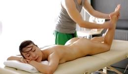 Dark-haired provocative skank is getting her oily flesh massaged by a aroused anybody