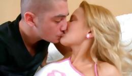 Blonde marvelous bitch treated perfectly hot by the dirty dude while fucked