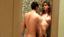You should not miss this amazing home sex in the bathroom