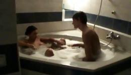 Horny girl came to her handsome man and begin fucking with him on the bed